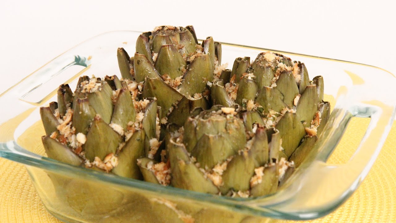 Traditional Stuffed Artichoke - Italian Cook Laura Vitale ...